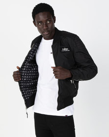 Alpha Industries Speedway Jacket With Printed Lining Black
