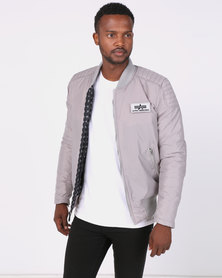 Alpha Industries Speedway Jacket With Printed Lining New Silver