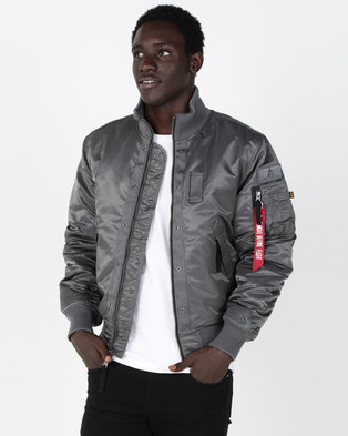 Alpha Industries Topgun Jacket With Quilted Lining Gunmetal