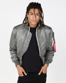 Alpha Industries Topgun Jacket With Quilted Lining Vintage Green