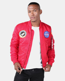 Alpha Industries NASA MA-1 VF Billionaire Jacket Red