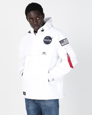 Alpha Industries NASA Anorak White