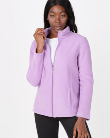 Queenspark Bonded Polar Fleece Long Sleeve Lilac