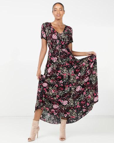 Queenspark Jungle Heat Printed Maxi Dress Multi
