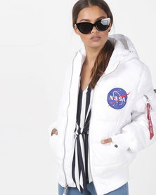 Alpha Industries Apollo 11 Puffer Jacket White