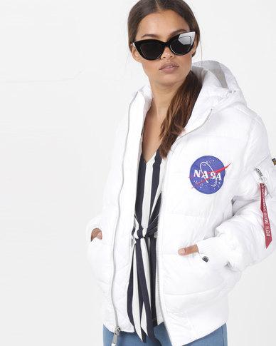 Alpha Industries Apollo 11 Puffer Jacket White