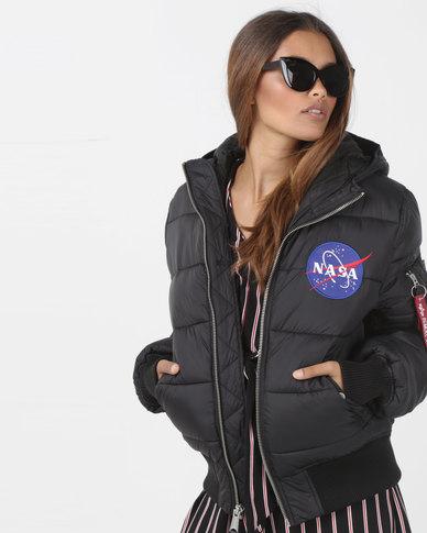 Alpha Industries Apollo 11 Puffer Jacket Black