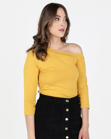 Utopia Asymmetrical Top Mustard