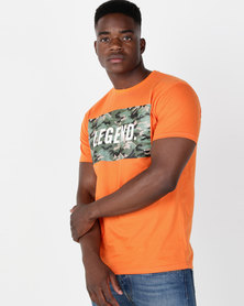 Utopia Legend Camo Print Tee Orange