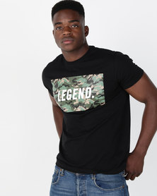 Utopia Legend Camo Print Tee Black