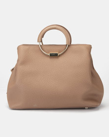 Fiorelli Stella Metal Circle Handle Grab Bag Taupe