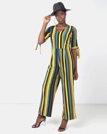 Utopia Striped Jumpsuit Green/Navy