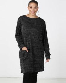 Utopia Plus Black Cut n Sew Dress With Pocket