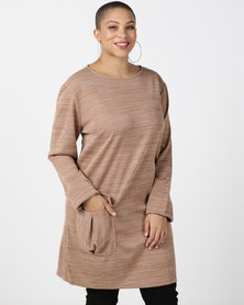 Utopia Plus Camel Cut n Sew Dress With Pocket