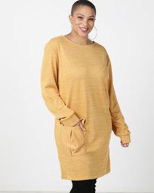 Utopia Plus Cut n Sew Dress With Pocket Mustard