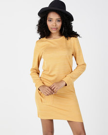 Utopia Cut n Sew Dress With Pockets Mustard