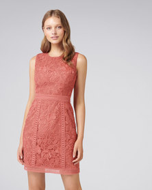 Forever New Callista Lace Trim Dress