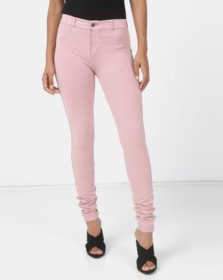 Sissy Boy Joey Sculpt Overdye Knit Jeans Dusty Pink