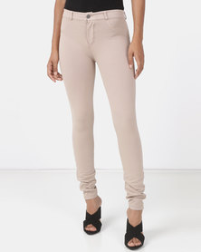 Sissy Boy Joey Sculpt Knit Overdye Jeans Light Beige