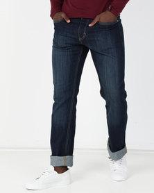 Soviet M Paolo Straight Leg Denim Jeans Dark Indigo