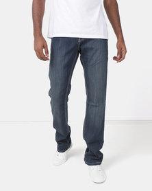 Soviet M Paolo Straight Leg Denim Jeans Indigo