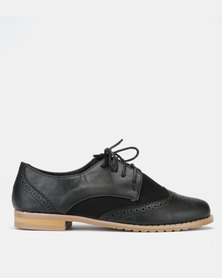 Jada Lace Up Brogues Black
