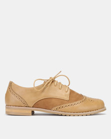 Jada Lace Up Brogues Hazelnut