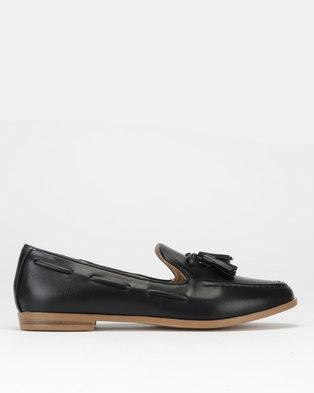 2a7b3742a53 Jada High Vamp Tassel Loafers Black