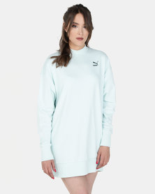 Puma Sportstyle Prime Womens Oversized Sweat Aqua
