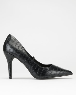 11defb8f8fcc Dolce Vita Essence Court Heels Black Croc