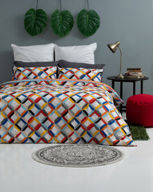 Horrockses Segment Diamond Geo Duvet Cover Set