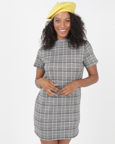 SassyChic Julia Dress Grey Check