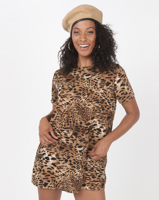 SassyChic Cher Tunic Dress Animal Print