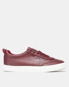 Light Low Wing Cap Burgundy Sneaker