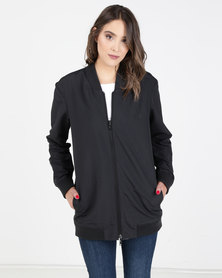 Hurley Elongated RVSB Bomber Fleece Black