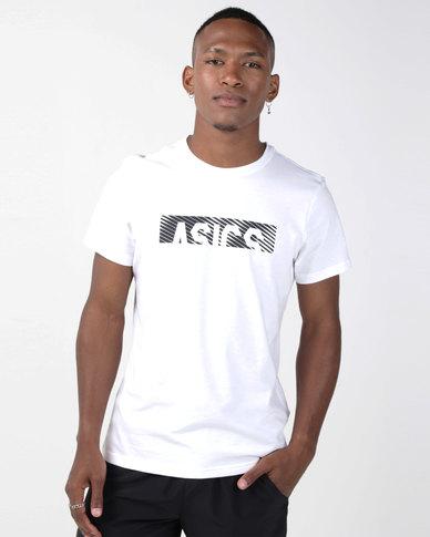 ASICS Essentials Diagonal Short Sleeve Top White