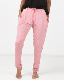 Brave Soul Slim Fit PJ Bottoms Blush