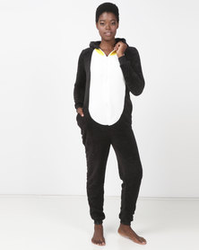 Brave Soul Loose Fit Penguin Onesie