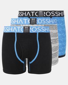 Crosshatch 3Pk Chocan Bodyshort Teal