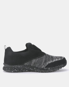 Brave Soul Mens Woven Mesh Sporty Trainer Black