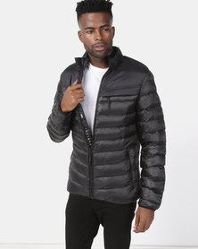 Crosshatch Chankford Quilted Puffer Jacket Black