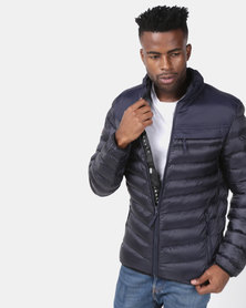 Crosshatch Chankford Quilted Puffer Jacket Navy