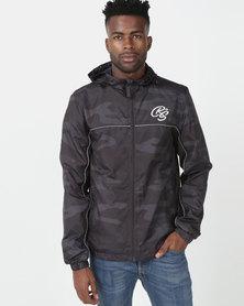 Crosshatch Tannum Camo Hooded Jacket Navy