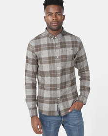 Crosshatch Shaman Block Check Shirt Green