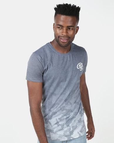 Crosshatch Prenzlau Camo Sublimation T-Shirt Blue