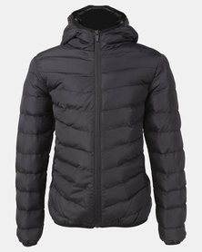 BRAVESOUL Boys Black Padded Hooded Jacket