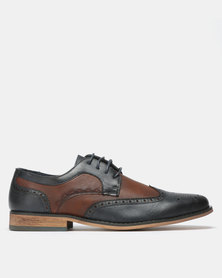 Franco Ceccato Formal Lace Up Navy/Brown