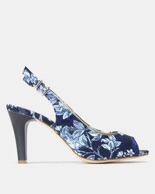 Queue Sling Back Heel Blue Multi