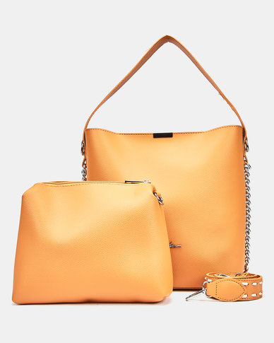 Seduction Two Piece Shopper Bag MUSTARD