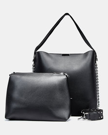 Seduction Two Piece Shopper Bag BLACK